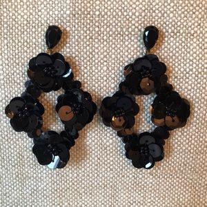 J. Crew sequin chandelier earrings